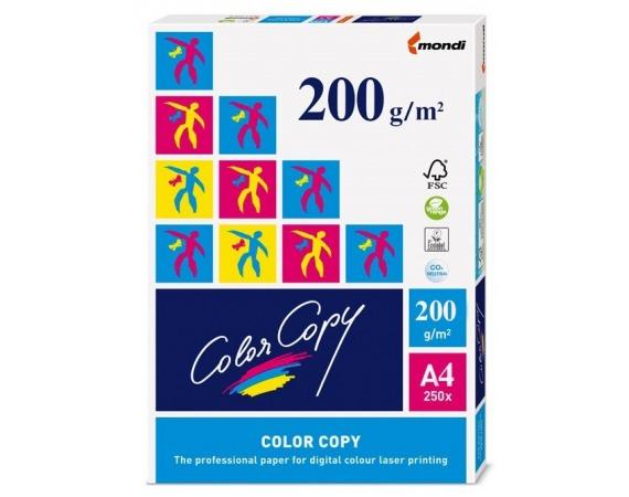 کاغذ A4 کالر کپی (عروسکی) 200 گرم 250 برگی